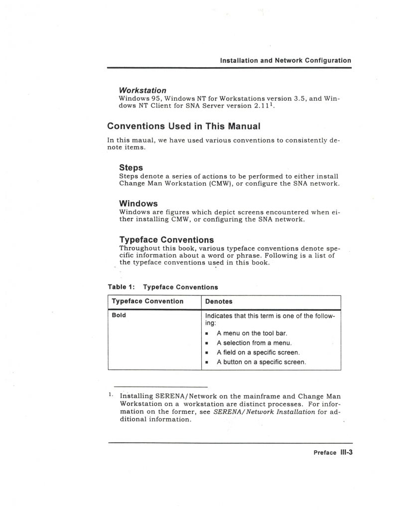 Serena International FrameMaker Template Design