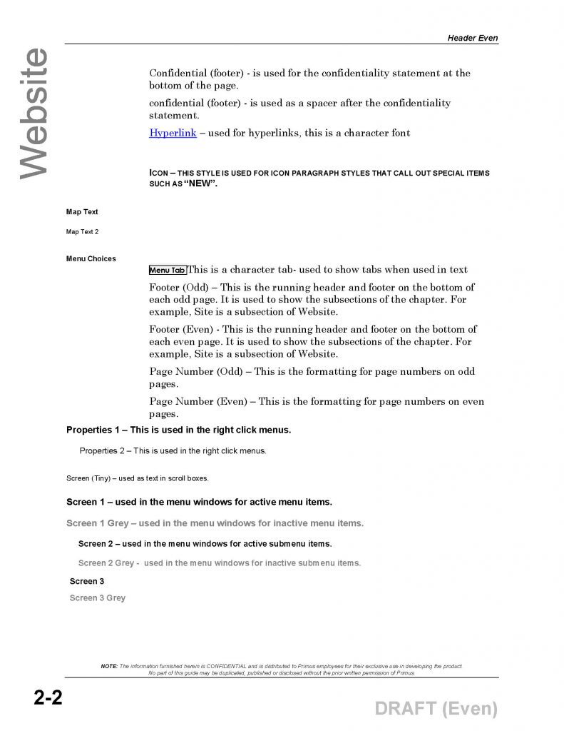 Imparto-Style Sheet